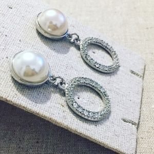 Pearl Earring with Crystal Drops – Nordstrom